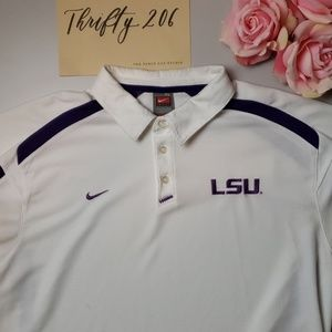 [Nike] Nike Fit Dry LSU Tigers Polo Shirt 💜💛